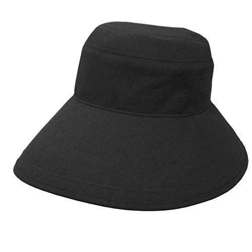 RoseBlanc(ロサブラン)100%完全遮光帽子プレーンハット13cm(ポケット付)(ブラック)