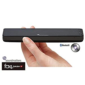 【国内正規品】Soundmatters Bluetoothポータブルスピーカー[siri対応] foxL DASH7s (ブラック) 持ち運びに便利な、厚さ18mm、重さ201gのスリムサイズ