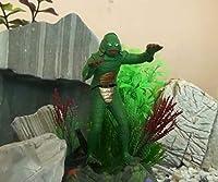 """ZoCenterShop(TM) 水族館の飾り魚飼育用の水槽の装飾7""""のためのブラックラグーンからの生き物"""