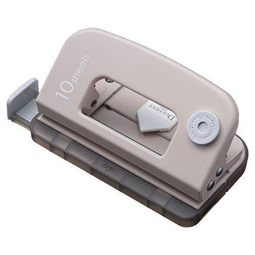 カール事務器 穴あけパンチ デコレ・パンチ 2穴 10枚 ベージュ DP-35-V