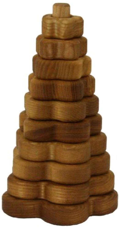 Lotes toys ラトビア製 木のおもちゃ スタッキングトイ フラワー お花の形のつみきは重ねるごとにやさしい音