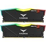 Team RGB(発光型) DDR4 3200Mhz(PC4-25600) 16GBx2枚(32GBkit) RGB DELTAシリーズ デスクトップ用メモリ ハイスピードタイプ 日本国内無期限保証