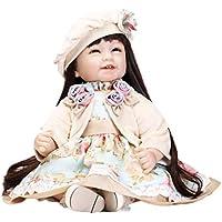 Sacow リボーンガールドール 55cm 生きているような新生児 シリコン人形 おもちゃ 女の子 プレイメイト 誕生日プレゼント 洋服と靴付き