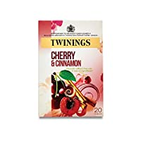 Twinings Cherry and Cinnamon - 20 Tea Bags (Pack of 6) - トワイニングチェリーとシナモン - 20ティーバッグ (x6) [並行輸入品]