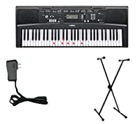 Yamaha EZ220 Keyboard with Lighted Keys - Includes X-Style Stand and Power Adapter [並行輸入品]