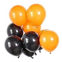 Sharplace 約40個 バルーン 風船 リボンロール パーティー クリスマス デコレーション 2色選べ  - ブラック&オレンジ