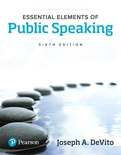 Download Essential Elements of Public Speaking (6th Edition) 0134402863