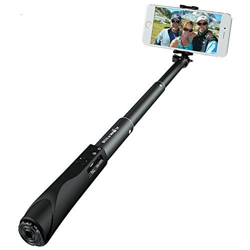 自撮り棒 Bluetooth無線 BlitzWolf ワイヤレスセルカ棒 セルフィースティック 23~90CM拡張可能 操作簡単 多種類機能 iPhone全機種/ Andoird/ Xperia/ Galaxy/ Nexus/SONY など対応  ブラック