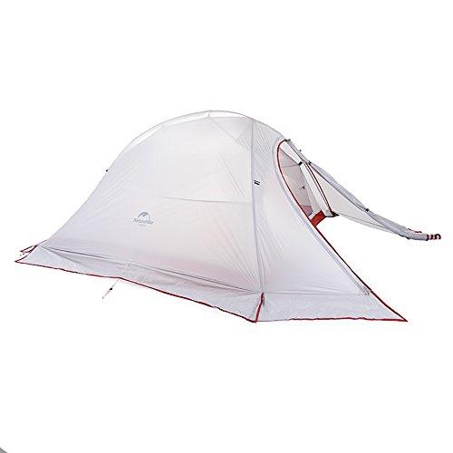 Naturehike公式ショップ テント 2人用 アウトドア 二重層 超軽量 4シーズン 防風防水 PU3000/4000 キャンピング プロフェッショナルテント(専用グランドシート付) (グレー+雪のスカート(20Dシリカゲルナイロン))