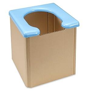 サンコー 携帯 簡易 トイレ 防災グッズ 31×30×35cm 耐荷重120kg ブルー 日本製 R-58