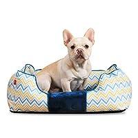 イーキャット犬のマット、犬のマット、犬のベッド、ペット用品、犬小屋、子犬のテディゴールデンレトリーバー犬のベッド、ミディアムドッグパッド、洗える猫のトイレ砂、猫の犬のバスケットネストハウス(サイズ:L)