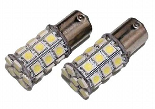 S25 27連 12V LED バルブ シングル ホワイト 2個セット テールランプ・ブレーキランプ 4cool (2)