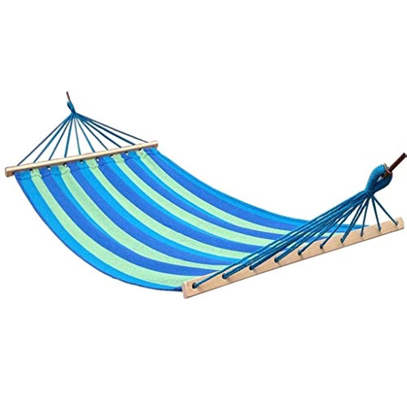 容器カポック現象MSchunou 2人綿生地キャンバス旅行ハンモック超軽量キャンプハンモックポータブルビーチスイングベッド付き広葉樹スプレッダーバーベッド