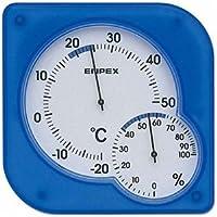 EMPEX 温度?湿度計 シュクレmidi 置き掛け兼用 TM-5606 クリアブルー ds-1762609