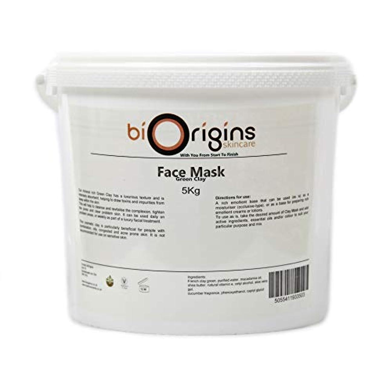 薄める一次リーフレットFace Mask - Green Clay - Botanical Skincare Base - 5Kg