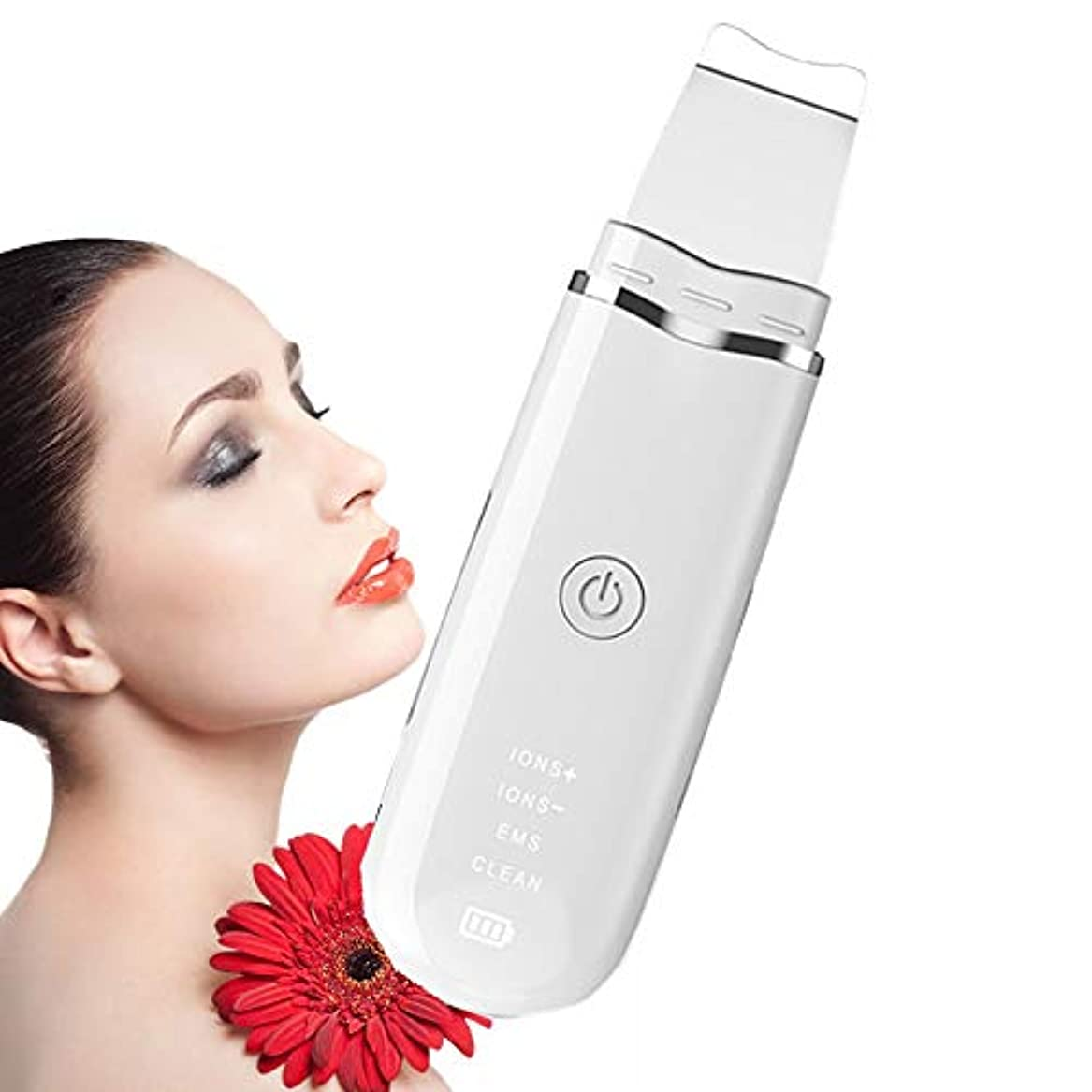 ティーム禁止する調べる顔の皮膚スクラバースキンEMSイオンクリーナーブラックヘッド除去はツールデッドスキンの除去を剥離クリーナーリンクルリムーバーにきび面皰ExtractorのUSB充電式フェイシャルマッサージリフティングを毛穴