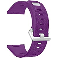Soft Silicone Replacement Sport Band Strap For Fitbit Ionic Smart Fitness Watch (One_Size, purple)