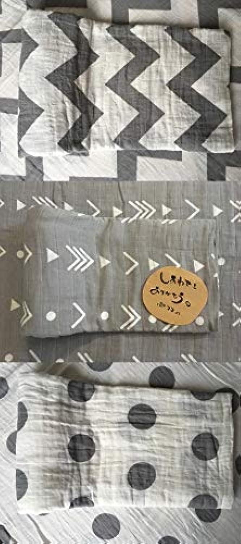 おくるみ ガーゼ ベビーブランケット コットン100% 赤ちゃん毛布 バスタオル (120cm×120cm) (3枚入り(灰色槍?波?水玉))