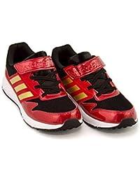 [アディダス] adidas 男の子 キッズ 子供靴 運動靴 通学靴 ランニングシューズ スニーカー アディダスファイト 軽量 カジュアル スクール 学校 ADIDASFAITO EL K CP9738 コアブラック/ゴールドメット/S 21.5cm