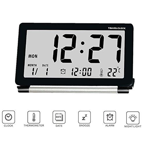 目覚まし時計 旅行用 折りたたみ時計 LED デジタル 置き...