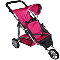 Pink My First Doll Twin Jogger Stroller