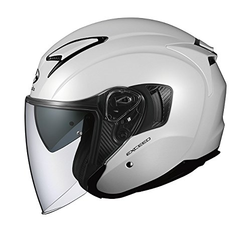 オージーケーカブト(OGK KABUTO)バイクヘルメット ジェット EXCEED パールホワイト (サイズ:L) 576844