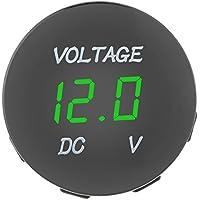 Richer-R LED デジタル電圧計  DC電圧計  デジタル表示 ユニバーサルLED電圧メーター電圧計 自動車用オートバイDC12-24V用