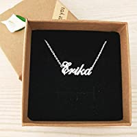 YTCM12 Female Name Personalized Custom Ornaments Handmade Bracelet Anklet Foot Chain anklets Any Alphabet Boys and Girls Birthday Gift (Metal Color : Platinum Plated)