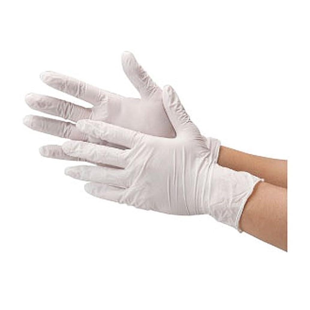 川西工業 ニトリル 使いきり手袋 ストロング 粉無 100枚入り 2037 ホワイトM