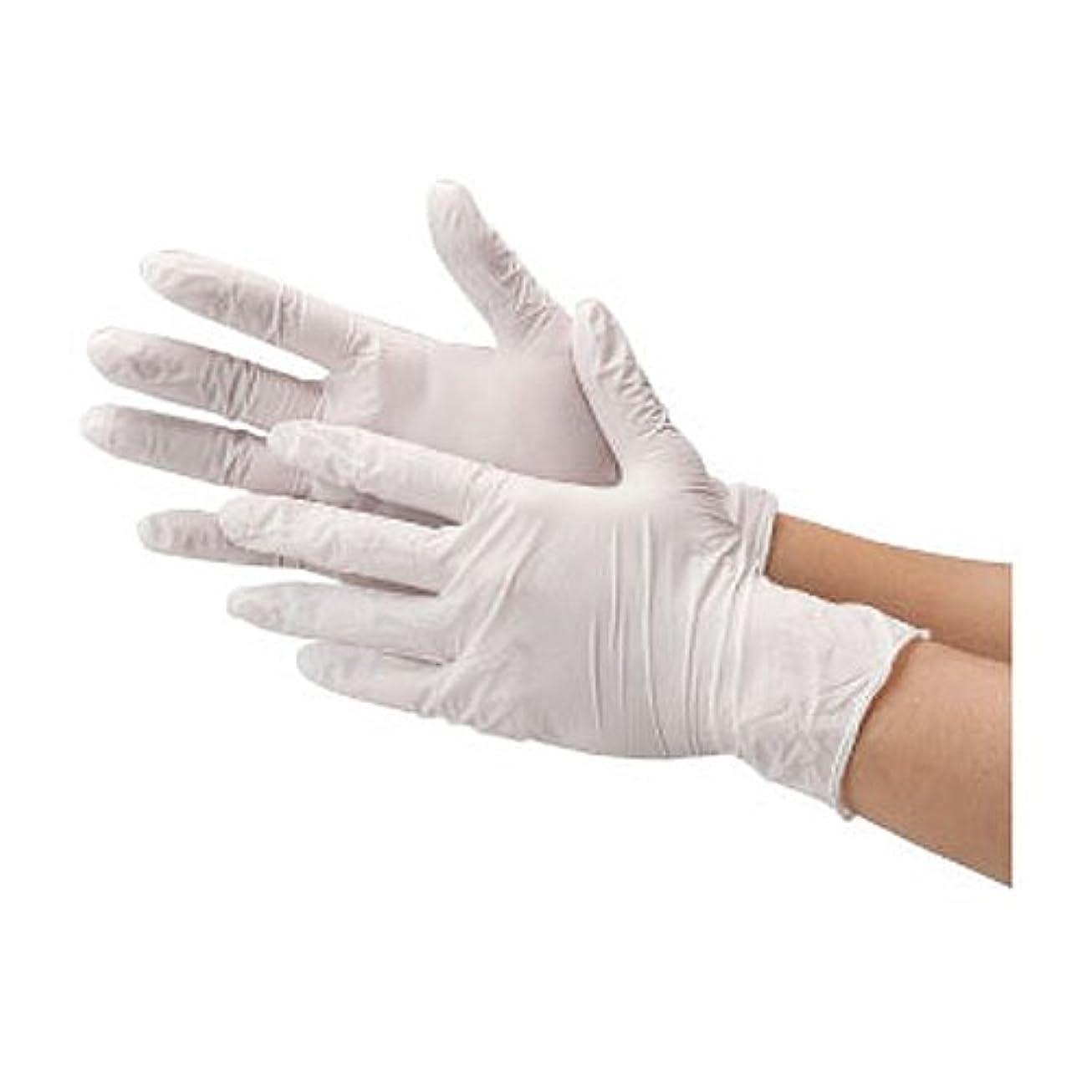パット踏みつけ発掘川西工業 ニトリル 使いきり手袋 ストロング 粉無 100枚入り 2037 ホワイトS