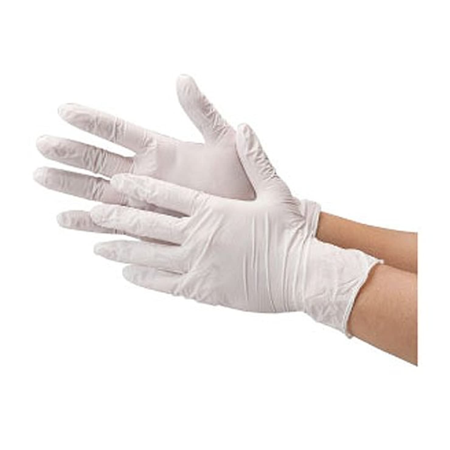 証拠非行欠乏川西工業 ニトリル 使いきり手袋 ストロング 粉無 100枚入り 2037 ホワイトS