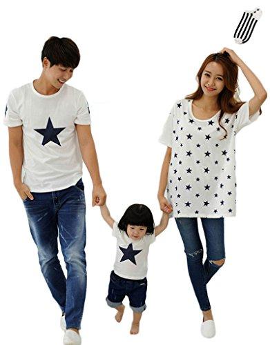 AIKOSHA NETWORK 親子 Tシャツ お揃い 半袖 & 靴下 のセット商品 ペアルック コットン ビッグシルエット 星