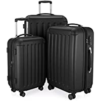Hauptstadtkoffer Spree - Set of 3 Luggages Suitcase Hardside Spinner Trolley Expandable TSA, Black, Set
