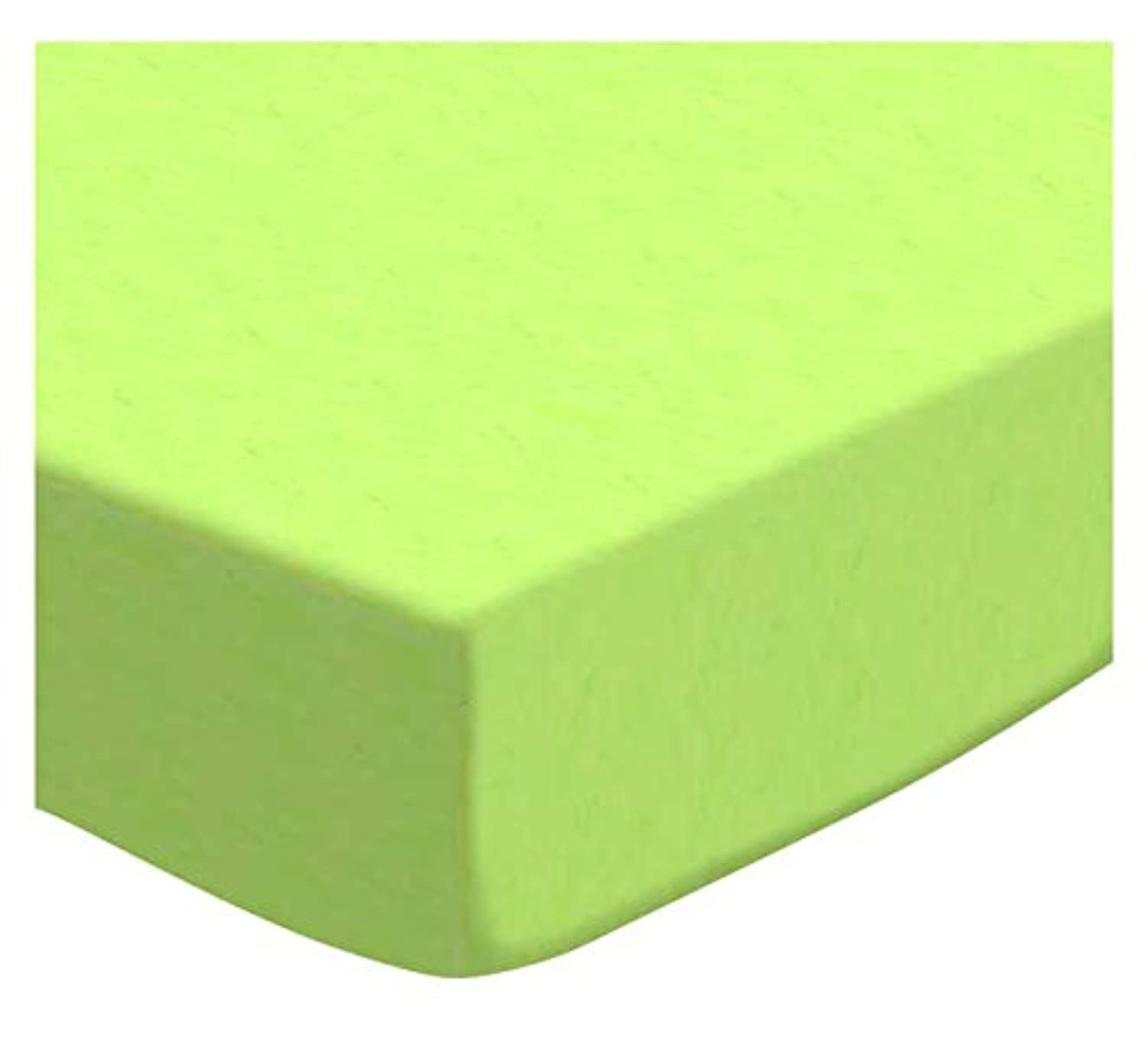 SheetWorld Fitted Portable / Mini Crib Sheet - Flannel - Lime - Made In USA by sheetworld