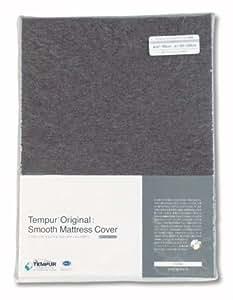 テンピュール スムースマットレスカバー 厚み3.5~7cm ファスナータイプ Sサイズ グレー