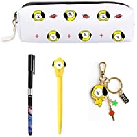 PINGJING BTS Gifts Set—BTS Pencil Case Pen Pouch Bag with Gel Pen (Jimin)