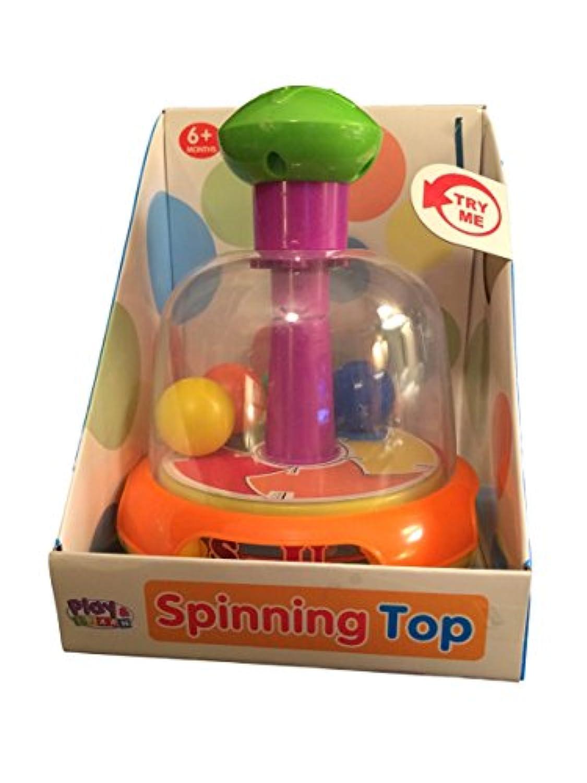 スピニングトップ 4色 赤ちゃん用おもちゃ