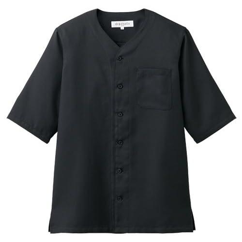 [チトセ]chitose【ダボシャツ】NEW ベーシックな鯉口シャツ《031-DN-7735》 (3L, C-10ブラック)