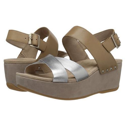 (ダンスコ)Dansko レディースサンダル・靴 Stasia Sand/Silver Full Grain US Women's 6.5-7 23.5-24cm Regular [並行輸入品]