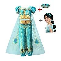 クリスマス子供のドレスアラジンのランプのコスプレ衣装ジャスミンプリンセスガールドレス役割衣装ツーピース