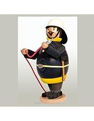 Happy Max消防士ドイツ木製Incense Smoker手作りドイツエルツ山地