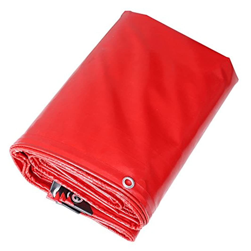 プレミア俳優ウールXF ターポリンターポリンターポリンターポリンターポリン防水日焼け止め赤、利用可能なサイズの様々な アウトドアキャンプ用品 (Size : 5 x 5M)