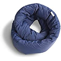 Huzi - Infinity Pillow - Travel Neck Airplane Pillow (Navy)