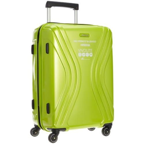 [アメリカンツーリスター] AmericanTourister VIVOLITE  /  ビーボライト スピナー62cm (スーツケース・キャリーケース・トラベルバッグ・TSAロック装備・大容量・軽量・ジッパー・ポリプロピレン・保証付) 35R*64002 64 (ライムグリーン)