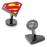 Superman スーパーマン ブラック カフス カフスボタン カフリンクス dc-ssrd-bk