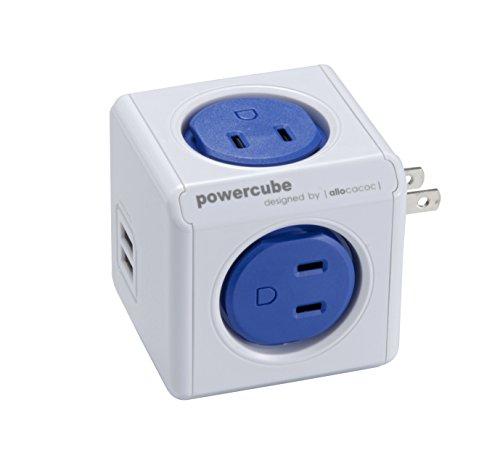 パワーキューブ おしゃれで使い勝手抜群なUSBポート付電源タップ iPhone/スマートフォン充電対応 AC4個口+USB2ポート Power Cube