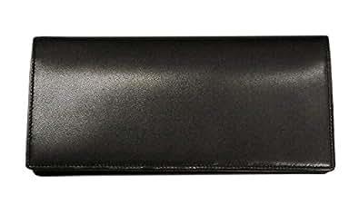 【キプリス】長財布(小銭入れ付き通しマチ束入) シラサギレザー 8237 (ブラック)