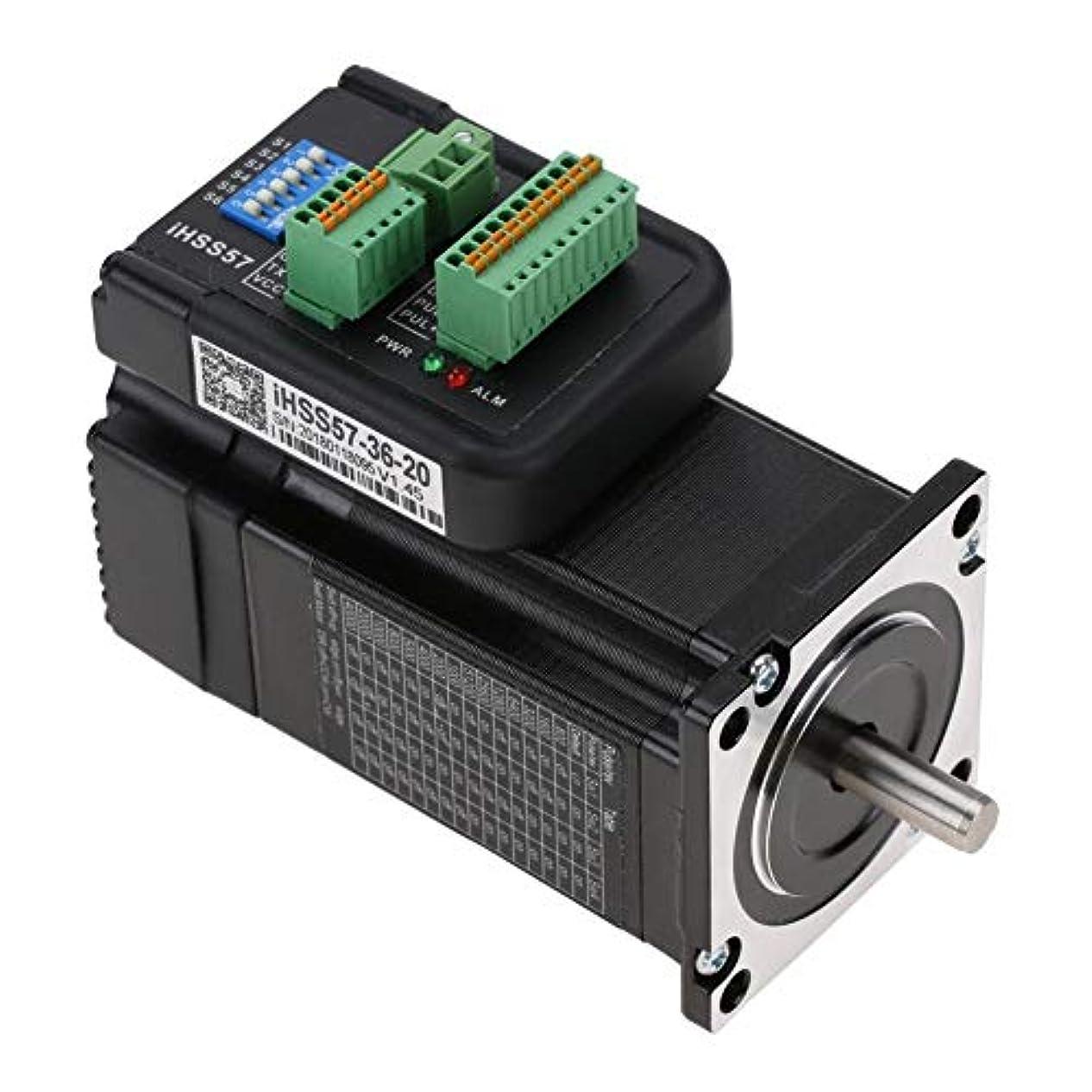 いたずらステープルカブNEMA23モータードライバーキット、2Nmハイブリッドクローズドループステッピングサーボモータードライバーキット36VDC iHSS57-36-20