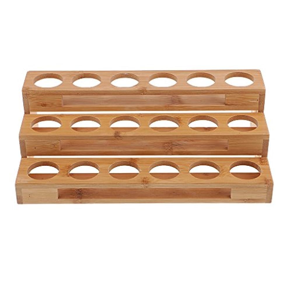 前部決済振幅Hellery エッセンシャルオイル 精油収納 展示スタンド 展示ラック ディスプレイラック 木製 18ホール