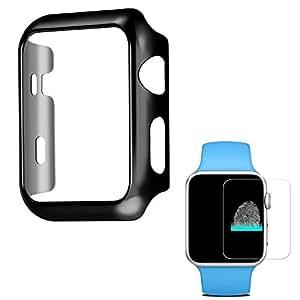 Apple Watch ケース アップルウォッチ カバー HOCO Pinhen メッキ加工ケース弧状設計 脱着簡単対応Apple Watch Series 2 (42MM Black)